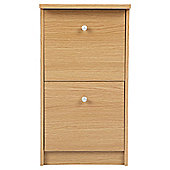 Isaac 2 Drawer Filing Cabinet, Oak