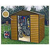 Yardmaster 9'4x6'1 Woodgrain Effect Metal Shiplap Shed