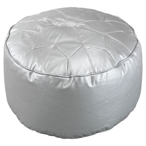 Morrocan Star Footstool, Silver