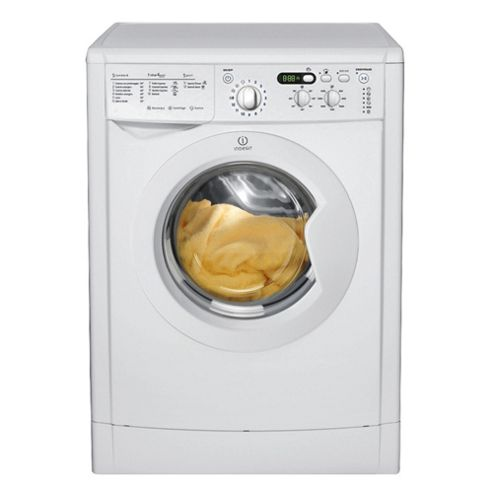 Indesit IWDD7143 Washer dryer, 7Kg Wash Load, 1400 RPM Spin, B Energy Rating, White