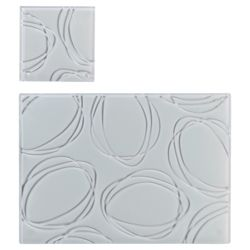 Tesco Set of 6 Glass Placemats and Coasters