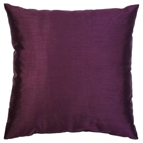 F&F Home Basic Faux Silk Cushion - Plum
