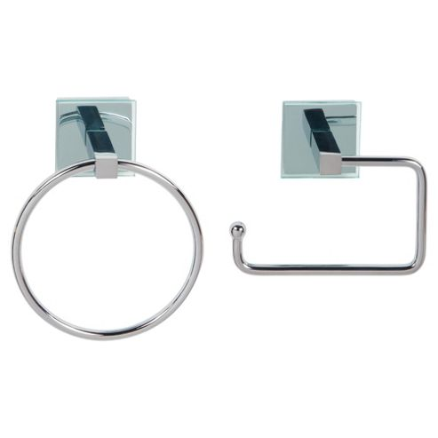 Lincoln Square Tube Towel Ring And Toilet Roll Holder
