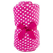 Tesco Kids Basics Polka Dot Fleece Blanket