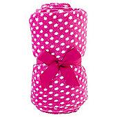 Tesco Kids Basics Polka Dot Fleece Blanket