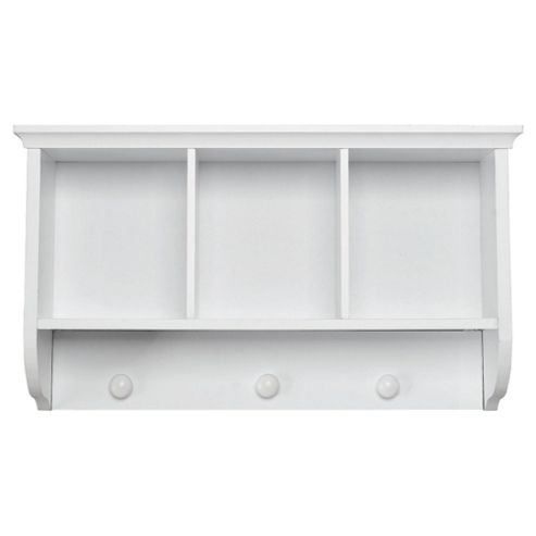 Southwold Storage Wall Unit with Coat Hooks, White