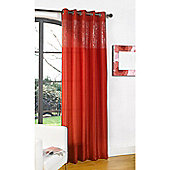 Dreams and Drapes Glamour Eyelet Single Curtain 55x72 inches - Red