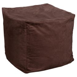 Faux Suede Bean Cube, Chocolate