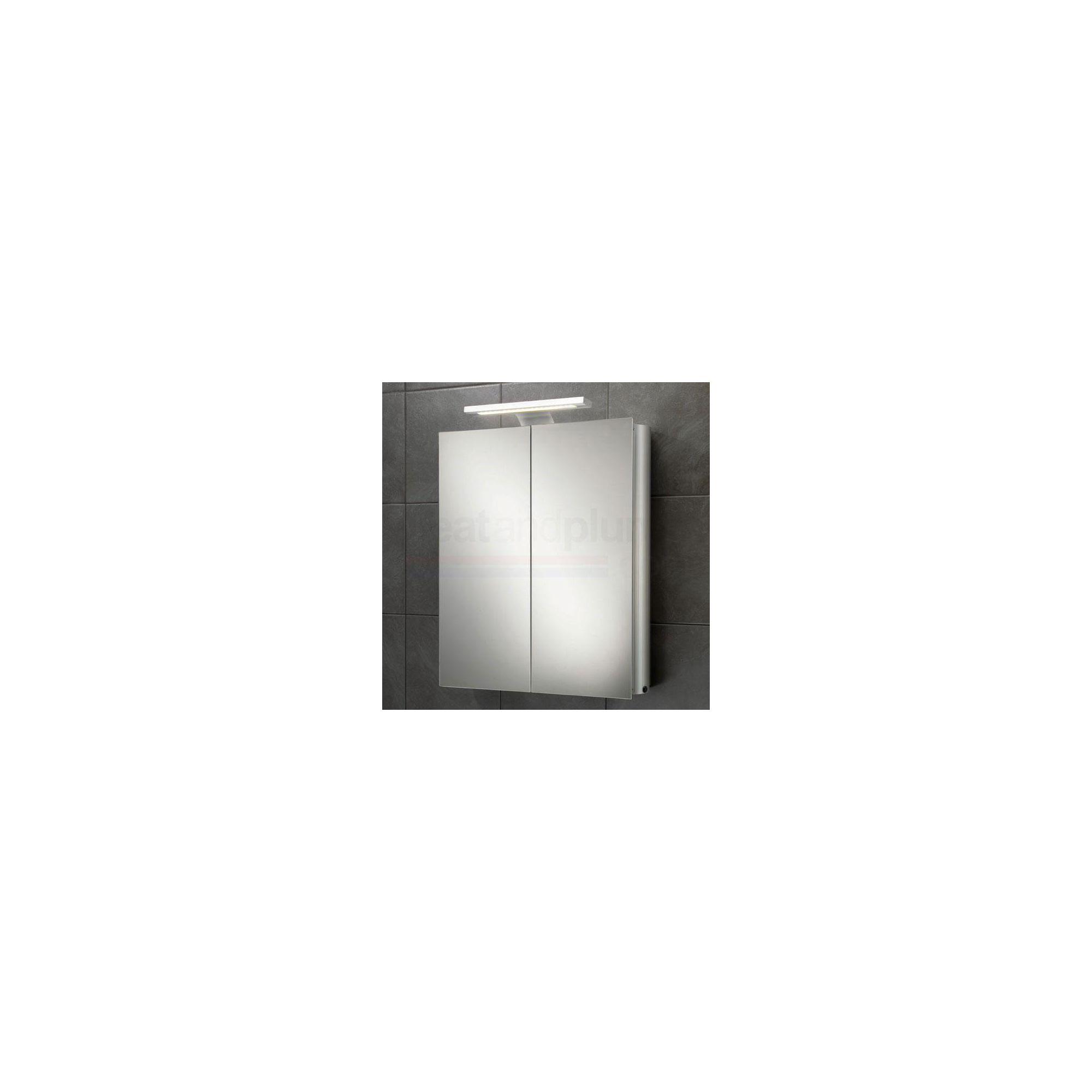 HiB Atomic Aluminium Bathroom Cabinet 700/750mm High x 600mm Wide x 145mm Deep