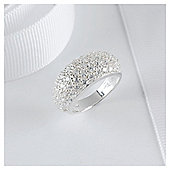 Sterling Silver Pave Set Crystal Ring, Small