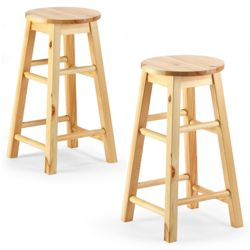 Pair of stools, pine