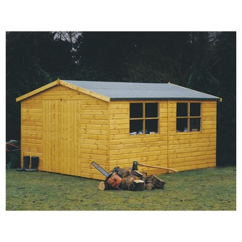 16x10 Finewood Heavy Double Door Workshop With Topcoat