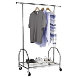 Tesco Stainless Steel Garment Rail with shelf
