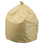 Large Faux Leather Beanbag, Cream