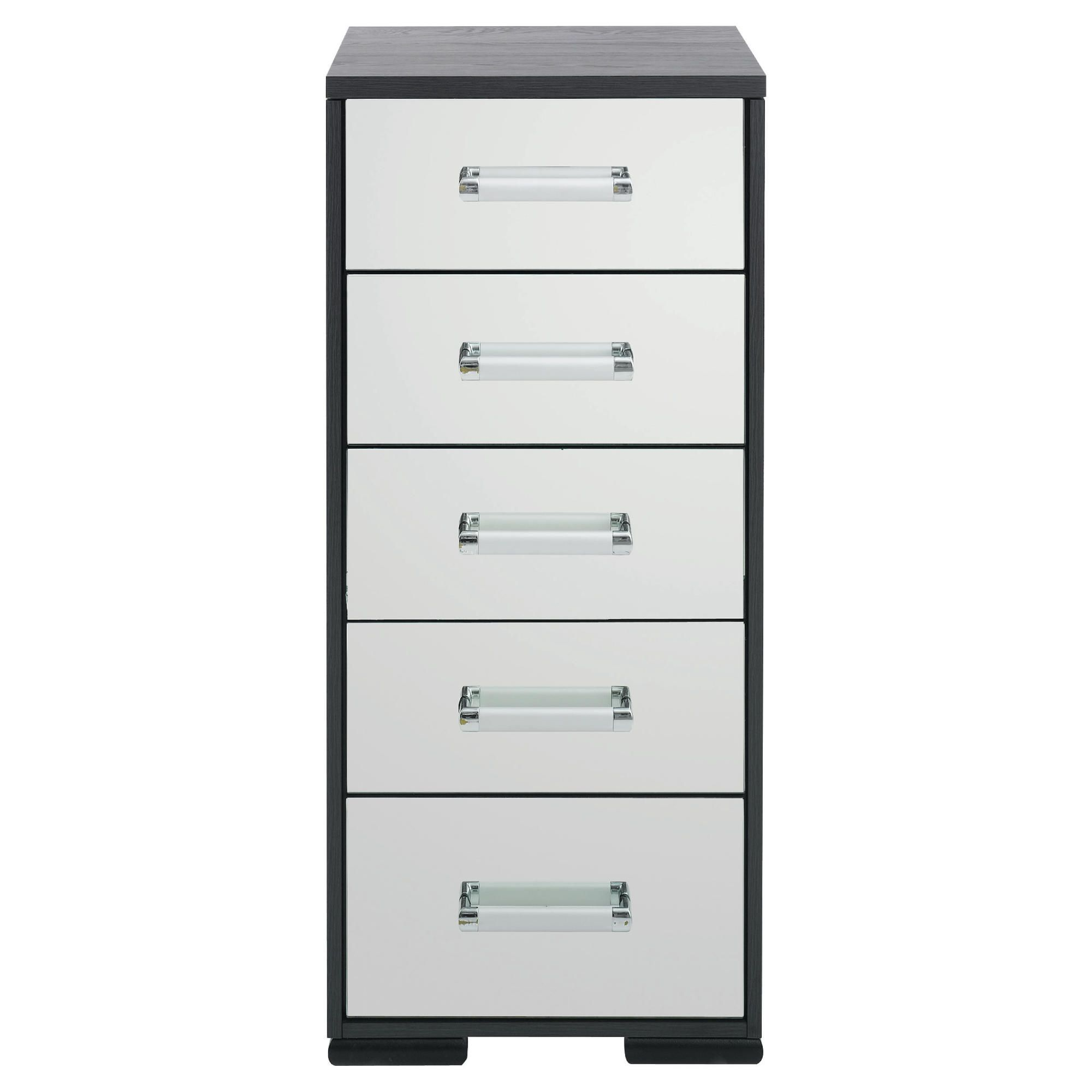 Sophia 5 Drawer Tall Chest Mirrored at Tesco Direct