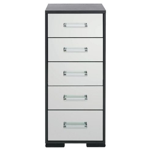Sophia 5 Drawer Tall Chest, Mirrored