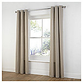 Tesco Plain Canvas Unlined Eyelet Curtains - Taupe