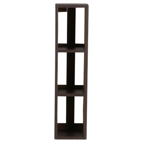 Tesco Leather Effect Media Rack, Brown