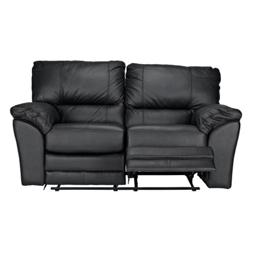 Buy madrid small leather recliner sofa black from our for Sofas a medida madrid