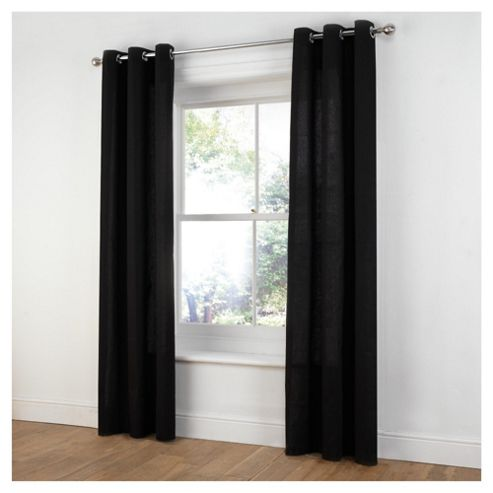 Tesco Plain Canvas Unlined Eyelet Curtains W117xL137cm (46x54