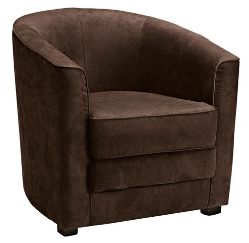 Miami Faux Suede Chair, Brown