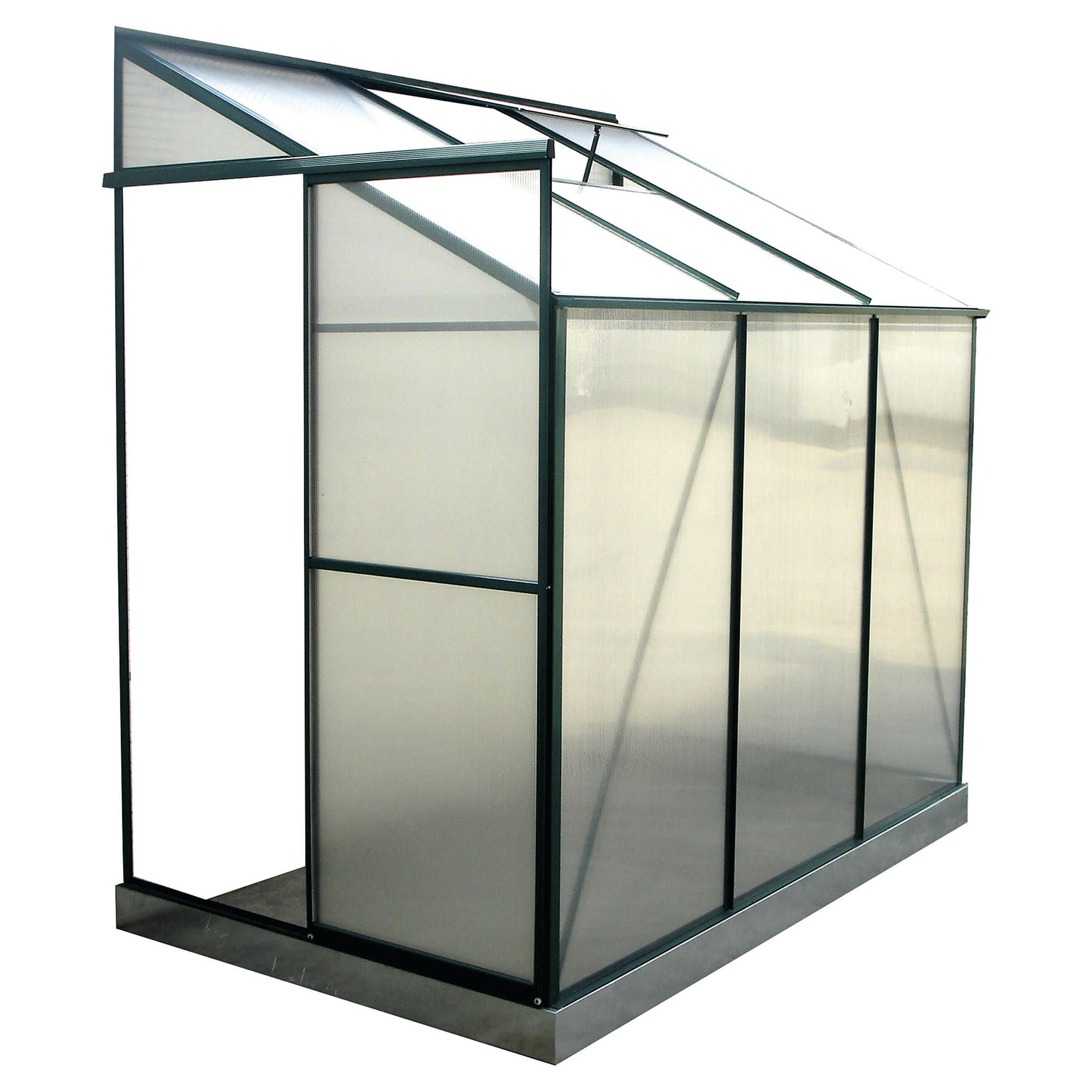 Walton 6 x 4 Aluminium & Polycarb Lean-To Greenhouse at Tesco Direct