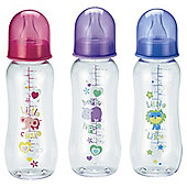 Tesco Standard Feeding Bottles Standard Neck 250ml 3pk