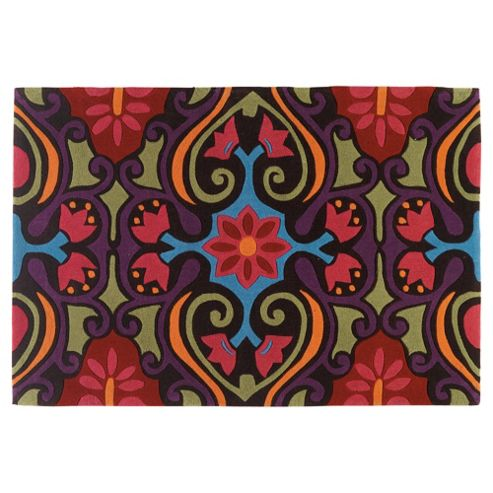 Tesco Rugs Bright Ethnic Design Rug, L170Xw120Cm