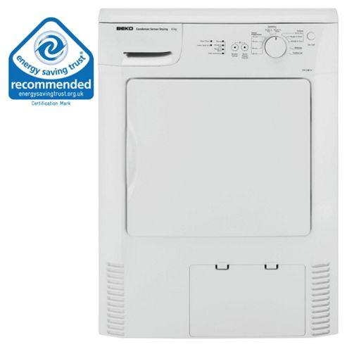 Beko DRCS68 Condenser Tumble Dryer, 6 kg Load, C Energy Rating. White