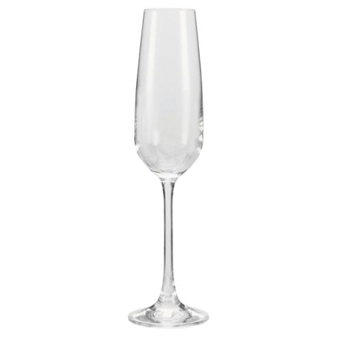 Tesco Finest Set of 4 Champagne Flute Glasses