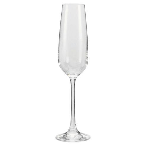 Tesco Finest Set of 4 Champagne Flute Glasses