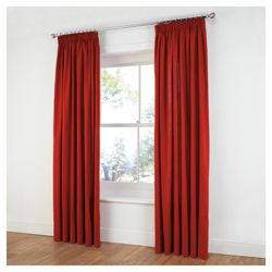 Tesco Plain Canvas Unlined Pencil Pleat Curtains W229xL183cm (90x72