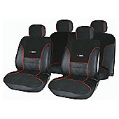 Autocare AC1651 Targa Seat Cover Set, Black and Red