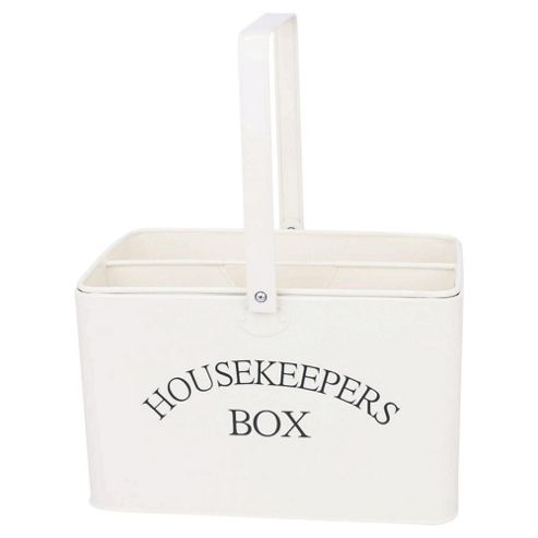 Cream Enamel Housekeepers Box