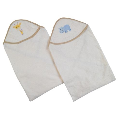 Tesco My Baby's 1 Pack Embroidered Cuddle Robe Natural