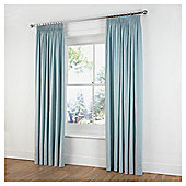"Tesco Plain Canvas Unlined Pencil Pleat Curtains W117xL137cm (46x54""), Duck Egg"