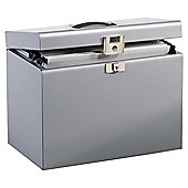 Pierre Henry A4 Metal Box File, Silver