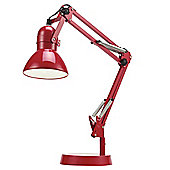 Tesco Lighting Retro Desk Lamp, Red