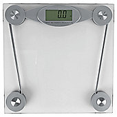 Tesco Clear Glass Electronic Bathroom Scale