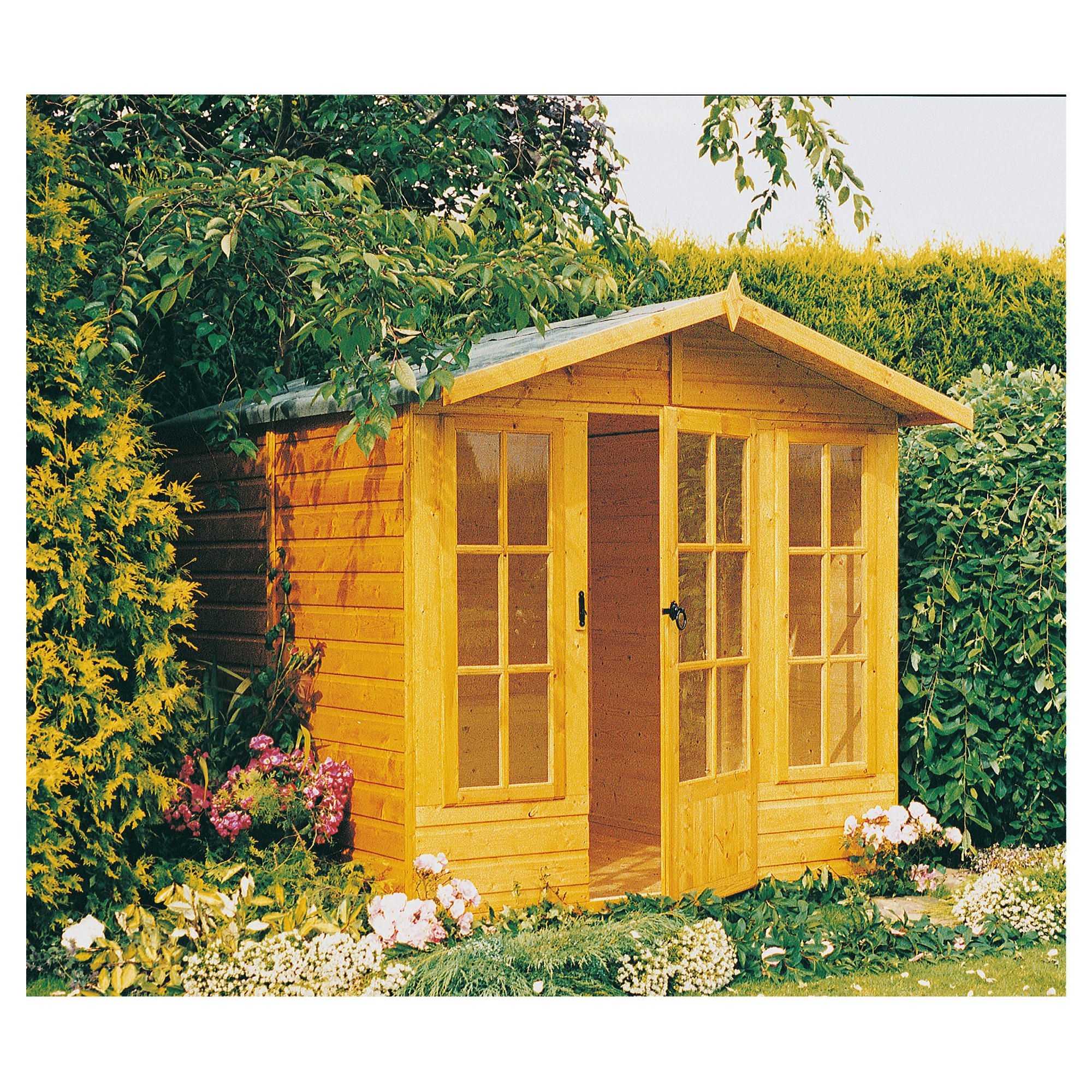 7x7 Chatsworth Finewood Wooden Summerhouse with Installation at Tesco Direct