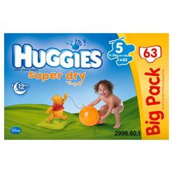Huggies Super- Dry Big Pack Size 5 (x 63)