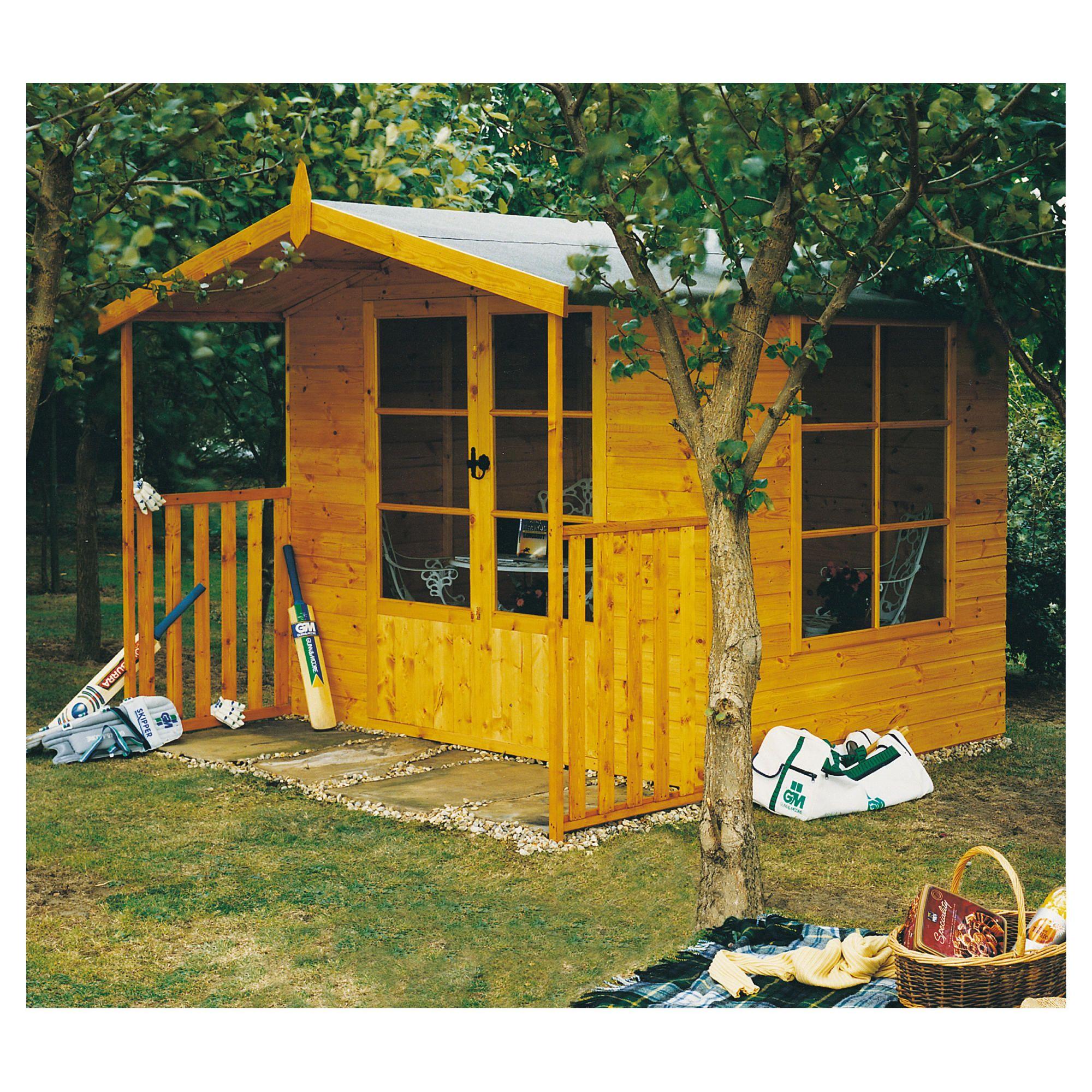 11x8 Winton Finewood Summerhouse Inc Veranda at Tesco Direct