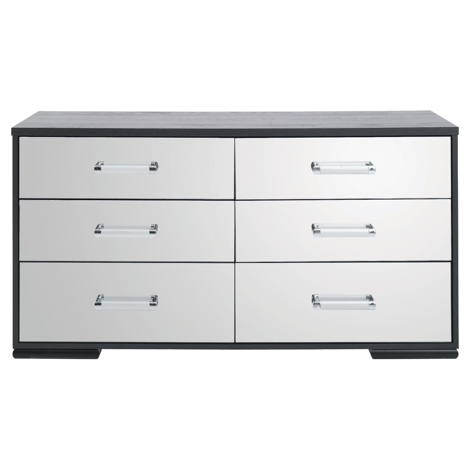 Sophia 6 Drawer Wide Chest Mirrored at Tescos Direct