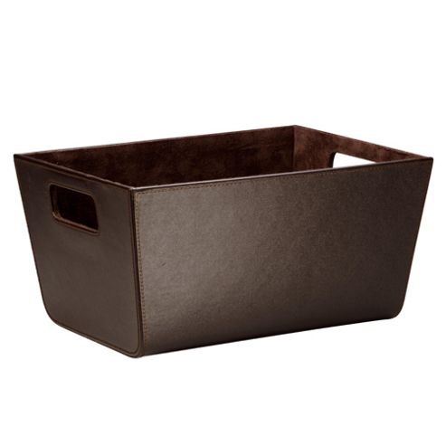 Tesco Leather Effect Shelf Basket