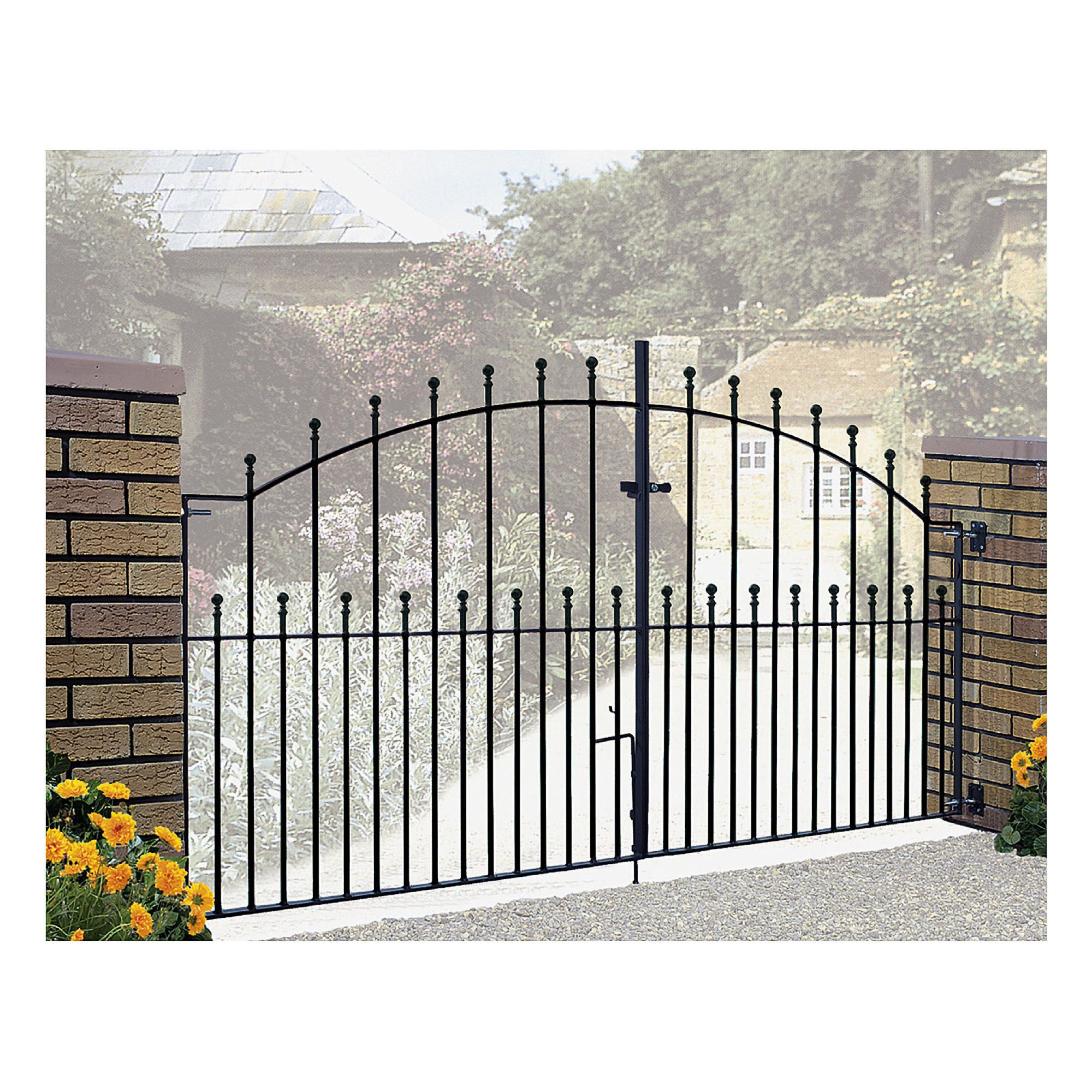 Burbage Manor Ball Double Metal Gate MA13 at Tesco Direct