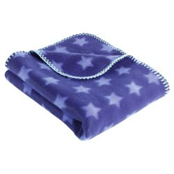 Tesco Kids Star Fleece Blanket, Blue
