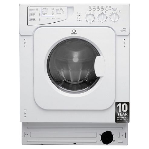 Indesit IWDE126 Washer Dryer, 6Kg Wash Load, 1200 RPM Spin, B Energy Rating, White