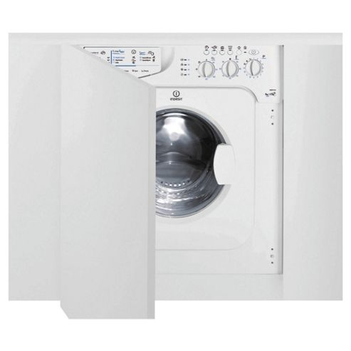 Indesit IWDE126 Washer Dryer, 6kg Wash Load, 1200 RPM Spin, B Energy Rating. White