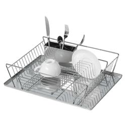 Stainless Steel Dish Drainer With Tray