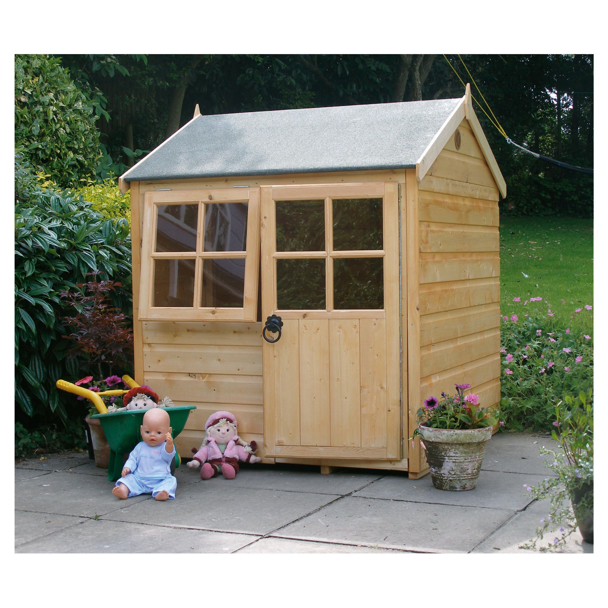 4ft x 4ft Finewood Pumpkin Wooden Playhouse with Installation at Tescos Direct